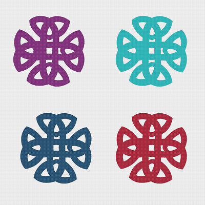 EASY 2 DMC Colors* Celtic Knot Tree of Life Counted Cross Stitch Pattern