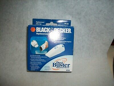 Genuine BLACK & DECKER Dustbuster Vac Vacuum Replacment Filter Set VF20