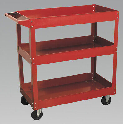 Genuine SEALEY CX108 | Workshop Trolley 3-Level Heavy-Duty