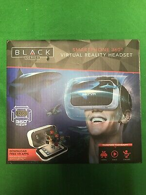 Black Series Smartphone 360 Degree Virtual Reality Headset Used