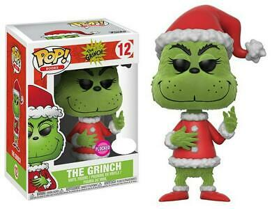 Dr Seuss - Santa Grinch Flocked Pop! Vinyl - FunKo Free Shipping!