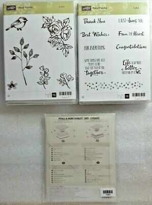 Stampin Up Clear Mount Petal Palette and Petals & More Thinlits Dies  *NEW*