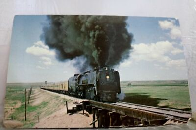Train Railroad RR Union Pacific 8444 Big Northern Postcard Old Vintage Card View