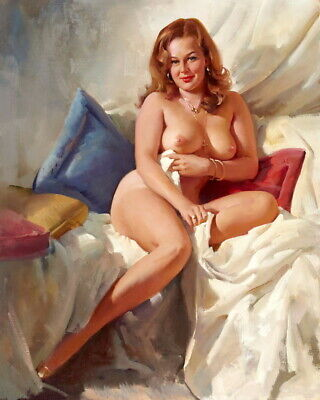 """Wall Decor Art Busty naked woman Oil painting HD Printed on canvas 16""""x20"""" P997"""