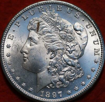Uncirculated 1897-S San Francisco Mint Silver Morgan Dollar