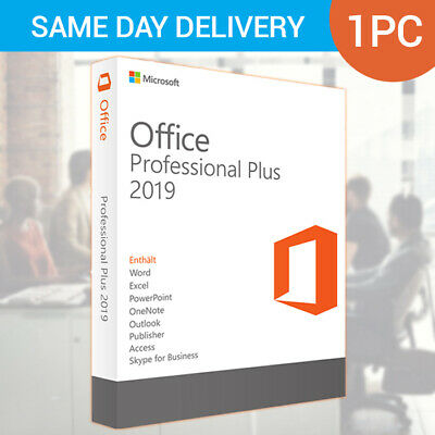Office Professional 2019 - Digital License - Phone Activation for 1PC