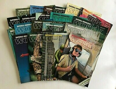 Lot Of 20 Vintage  National Geographic - World Magazines For Kids 1978-1984