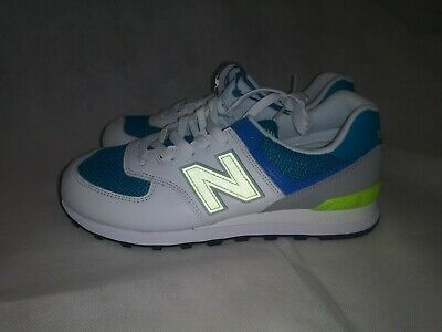 7a07ff05fbd3 Men's New Balance 574 Casual Shoes Deep Ozone/Blue/Bleached Lime ML574PWB  402 Si