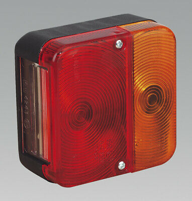 Genuine SEALEY TB18 | Rear Square Lamp Cluster 12V with Bulbs