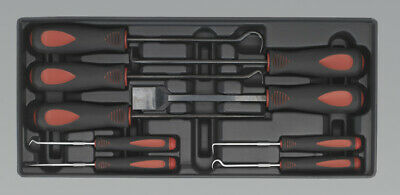 Genuine SEALEY TBT23 | Tool Tray with Scraper & Hook Set 9pc