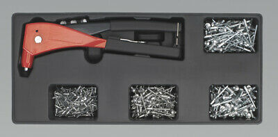 Genuine SEALEY TBT15 | Tool Tray with Riveter & 400 Assorted Rivet Set