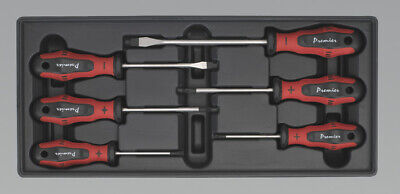 Genuine SEALEY TBT14 | Tool Tray with Screwdriver Set 6pc