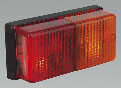 Genuine SEALEY TB19 | Rear Rectangular Lamp Cluster 4-Function 12V with Bulbs