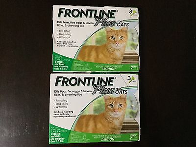 Frontline Plus Flea And Tick Control For Cats Over 1.5 Lb 6 Months Supply- New