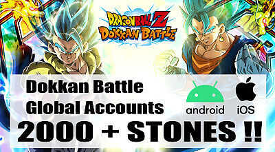 GLB💥2 ACCOUNTS FOR THE PRICE OF ONE 💥2200+DS❗ ❗ Android/IOS-Dokkan Battle
