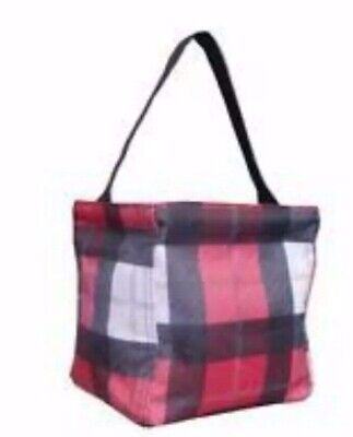 NIP New Thirty One 31 Littles Carry All Caddy Check Mate Black Red White