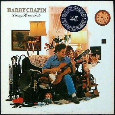 HARRY CHAPIN 'Living Room Suite' NM Never played 1978 white label Promo LP