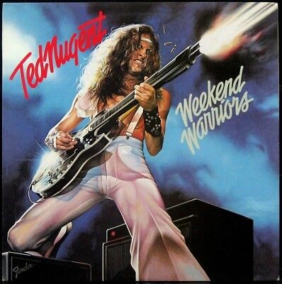 TED NUGENT 'Weekend Warriors' Never played 1978 1st press white label Promo LP