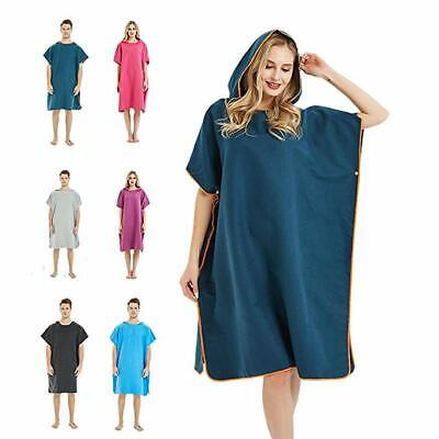 Colourful Hooded Poncho Towel Changing Beach Robe Towel Surf Adults Summer UK