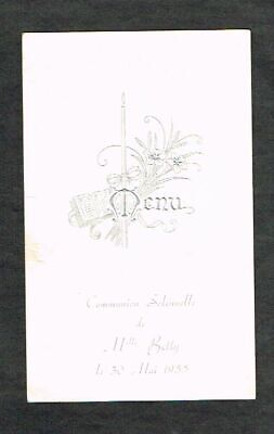 Communion Solennelle - Ancien Menu de 1955.