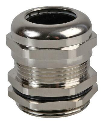 PG-MA PG29 Brass Nickel Plated Cable Gland 18-25mm Dia, 10 Pack - PRO POWER