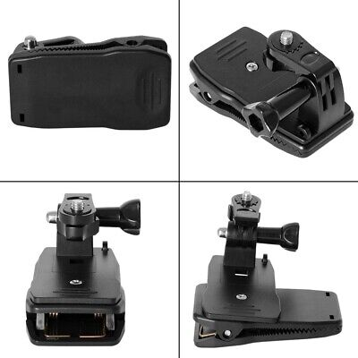 Go pro Hero 5 6 7 Accessories 360° Rotary Backpack Belt Clip Clamp Mount