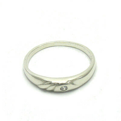 Small Sterling Silver Ring Hallmarked Solid 925 2mm CZ Perfect Quality Empress
