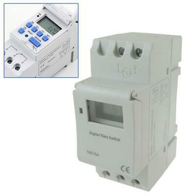 AC 220V 16A THC15A Timer Time Relay Switch Digital LCD DIN Programmable Rail BIN