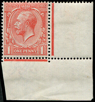 1d SG 359 VARIETY, 'VERY PALE-RED' U/M, corner marginal, fab colour of this sca