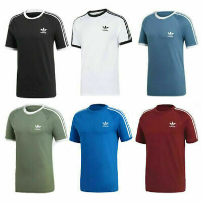 Adidas Mens T Shirt Originals 3 Stripes Short Sleeve Crew Neck Top Size S M L XL