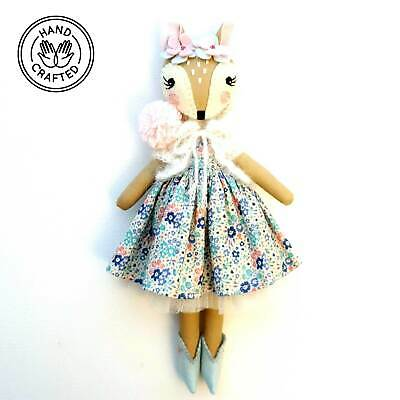 Heirloom Hand Made Fabric Doll Fawn Tiffany