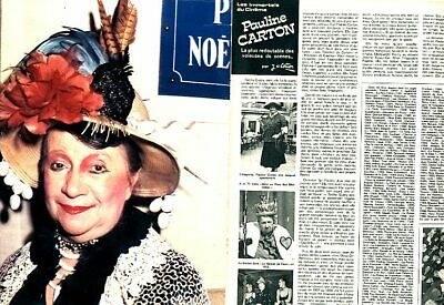 Coupure de presse Clipping 1974 Pauline Carton   (4 pages)