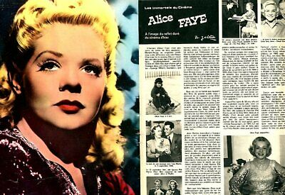Coupure de presse Clipping 1974 Alice Faye  (4 pages)