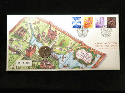 Royal Mint Coin Cover : The Forth Bridge £1 Coin 2004