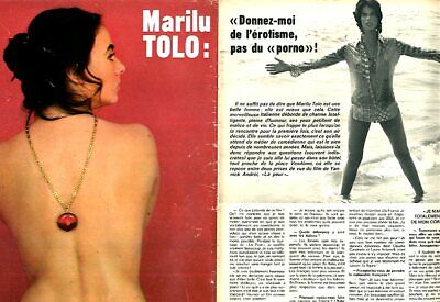 Coupure de presse Clipping 1974 Marilu Tolo  (4 pages)