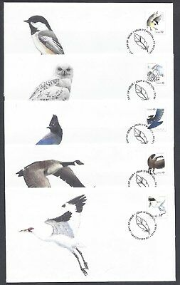 2018 Birds of Canada Limited and Scarce FDCs with BK stamps