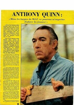 Coupure de presse Clipping 1974 Anthony Quinn  (3 pages)