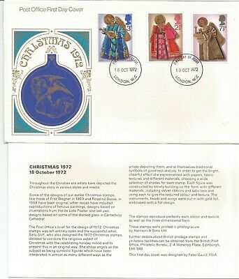 Gb Fdc 1972 Christmas