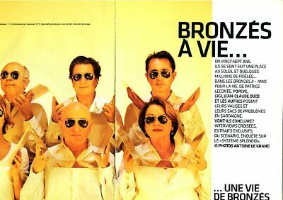 Coupure de presse Clipping 2006 L'Equipe du Splendid Bronzés à Vie  (8 pages)