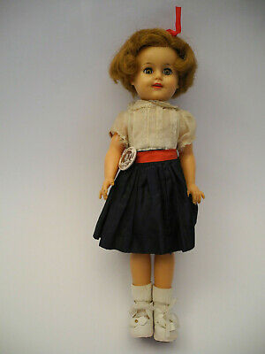 Shirley Temple Puppe ST-15 mit Originalbutton Ideal Doll