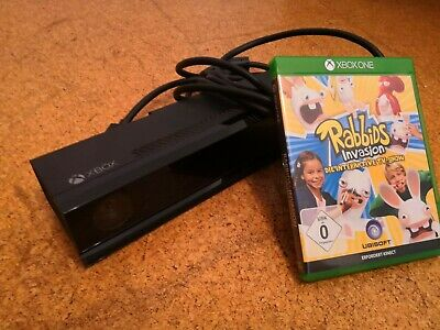 BUNDLE: Microsoft Xbox One Kinect Sensor & Rabbits Invastion