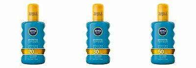 Nivea Sun Spray Protect Refresh Invisible Cooling Water Resistant SPF 20 30 50