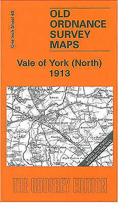 OLD ORDNANCE SURVEY MAP Vale of York (North) 1913: One Inch Sheet 63