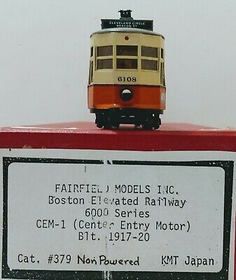 HO Brass Nicely Painted Boston 6000 Center Entrance Trailer By Fairfield Models