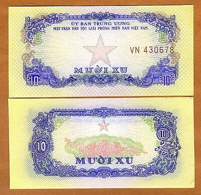 South Vietnam, 10 Xu, ND (1963),  Pick R1, UNC