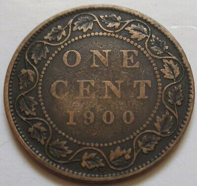 1900 H Canada Large Cent Coin. BETTER GRADE (RJ469)