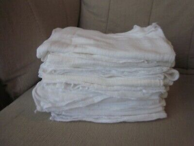 "Face Mask Material Cotton Gauze Clean Used Baby Diaper Lot of 12 24"" x 20"""
