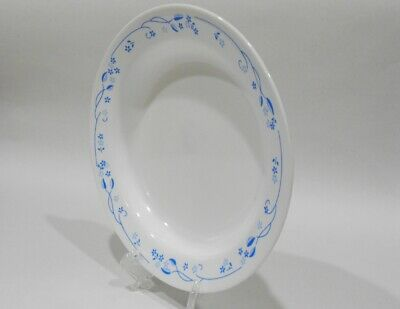 *NEW Corning PROVINCIAL BLUE 15-oz SOUP BOWL Flat Rim English Garden Floral Vine