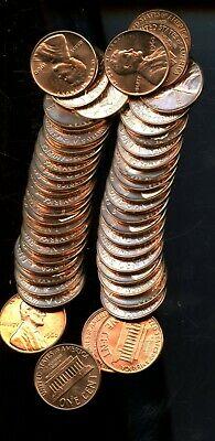 Roll (50) 1960 United States Lincoln Memorial Cents(50 Coins) BI506