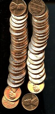 Roll (50) 1962 D United States Lincoln Memorial Cents(50 Coins) BI511